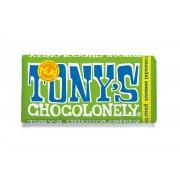 Tony's Chocolonely Chocoladereep Puur Amandel/Zeezout