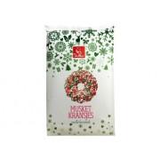 Musketkransjes melkchocolade groen/wit/rood