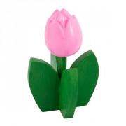 Buis Souvenirs Houten Tulp met Blad op Stand