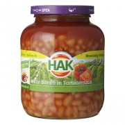 Hak Witte Bonen in Tomatensaus 370ml