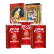 Douwe Egberts Koffiepakket met 1 oud-Hollands koffieblik