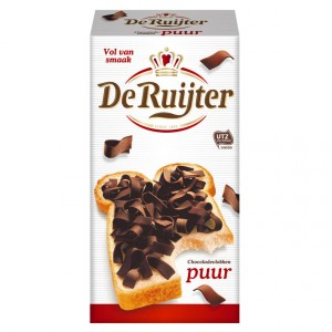 Chocoladevlokken puur