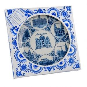 Delftsblauw Wandbord 20 cm Amsterdam