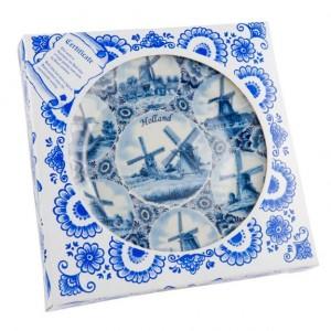 Delftsblauw Wandbord 20 cm Molens Combi