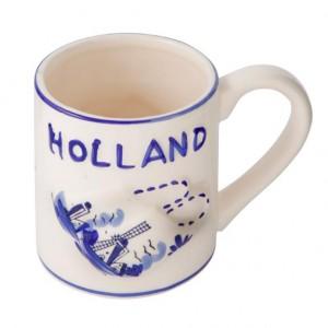Delftsblauwe mok klompjes holland