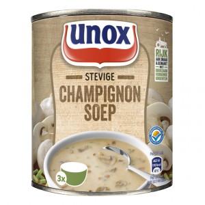 Stevige champignonsoep
