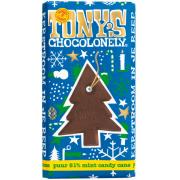 Tony's Chocolonely Chocolade kerstboom 51% mint candycane 180 gram