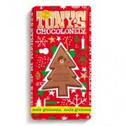 Tony's Chocolonely Chocolade kerstboom melk/gluhwein 0,1% 180gram