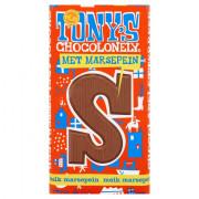 Tony's Chocolonely Chocolade Letter Melk met Marsepein S  180 gram