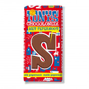Tony's Chocolonely Chocolade Letter Melk met Pepernoot S 180 gram