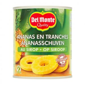 Ananasschijven op siroop 820 gram