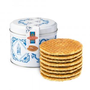 Caramel Stroopwafels in Delfts Blauw blikje