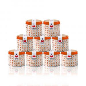 Caramel Stroopwafels in Oranje blik 9 stuks