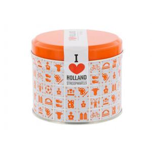 Caramel Stroopwafels in Oranje blik