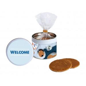Stroopwafel Cadeau Blik 'Welcome'