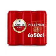 Amstel Pilsener blik 6 x 50 cl