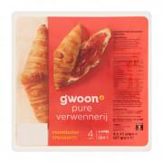 G'woon Roomboter croissants 4 x 45 gram