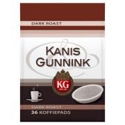 Kanis & Gunnink Dark roast koffiepads 36 stuks