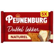 Peijnenburg Ontbijtkoek dubbel lekker naturel 5 stuks
