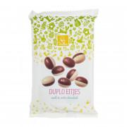 De Heer Chocolade duplo eitjes melk/wit 150 gram