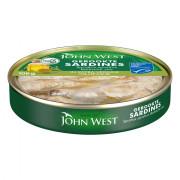 John West Gekookte sardines in extra vergine olijfolie 106 gram