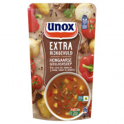 Unox Soep in zak extra rijkgevuld goulashsoep 570 ml