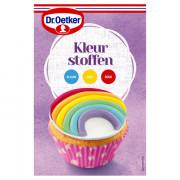 Dr. Oetker Kleurstoffen blauw geel rood 45 gram