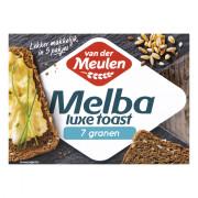 Van der Meulen Melba luxe toast 7 granen 100 gram