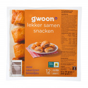 G'woon Mini Saucijzen Broodjes 12x