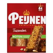 Peijnenburg Ontbijtkoek tussendoor noten 6 stuks