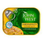 John West Sardinesfilets zonnebloemolie zonder graat 95 gram blikje