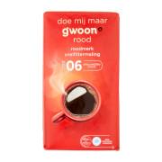 G'woon Snelfilter koffie rood 500 gram