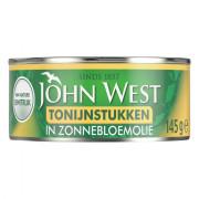 John West Tonijnstukken in zonnebloemolie 145 gram