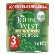John West Tonijnstukken in olijfolie 3 x 145 gram