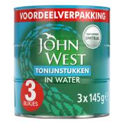 John West Tonijnstukken in water 3 x 145 gram