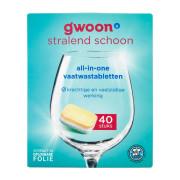 G'woon Vaatwastabletten all-in-one 40 stuks