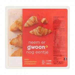 Mini roomboter croissants 8 x 25 gram