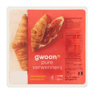 Roomboter croissants 4 x 45 gram