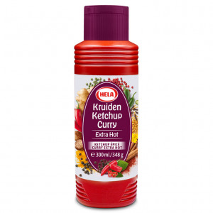 Kruiden ketchup curry extra hot 300ml