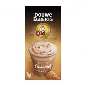 Verwenkoffie latte caramel oploskoffie 8 stuks